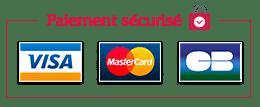 Paiements sécurisés - Logos Visa Mastercard CB